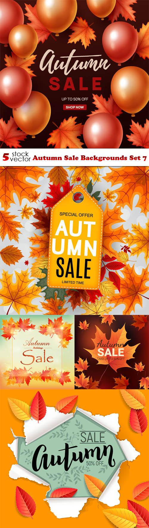 Autumn Sale Backgrounds Set 7