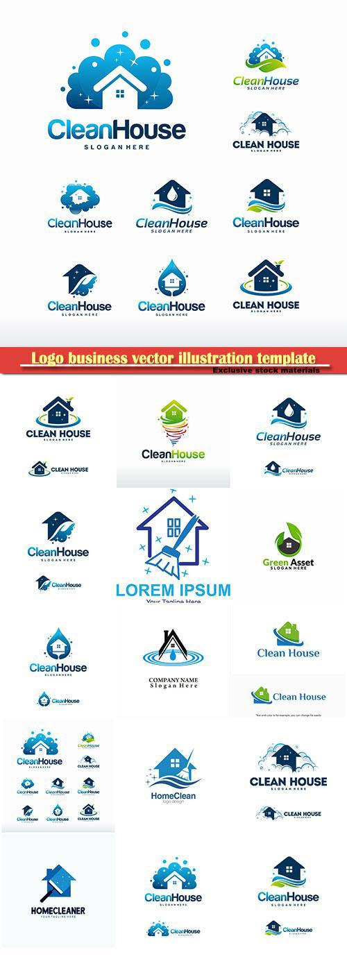 Logo business vector illustration template # 150