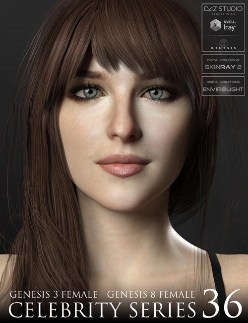 Celebrity Series 36 for Genesis 3 and Genesis 8 Female