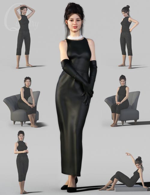 Classic Poses for Charlotte 8 and Genesis 8 Female