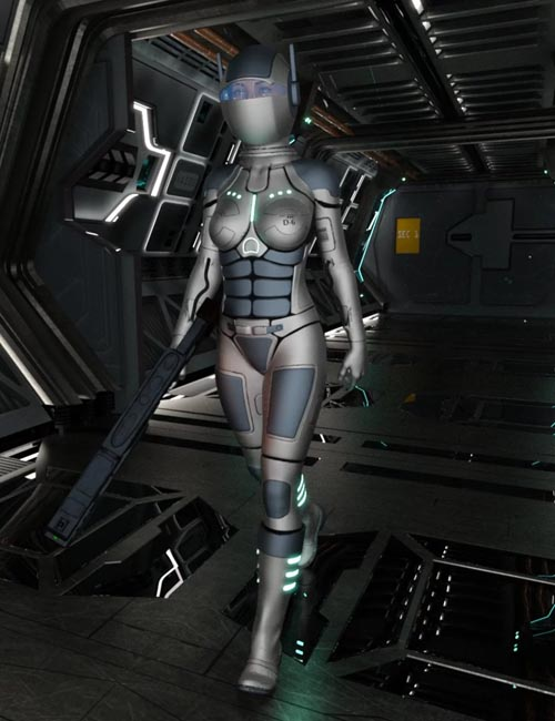D6 Peace Keeper Outfit for Genesis 8 Female