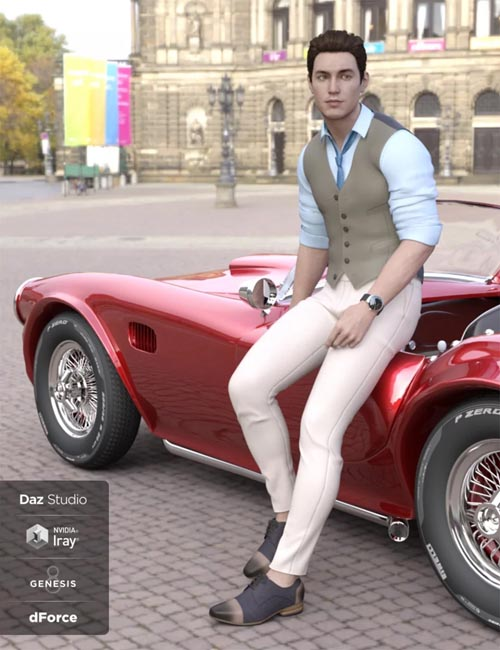 dForce Oxford Outfit for Genesis 8 Male(s)