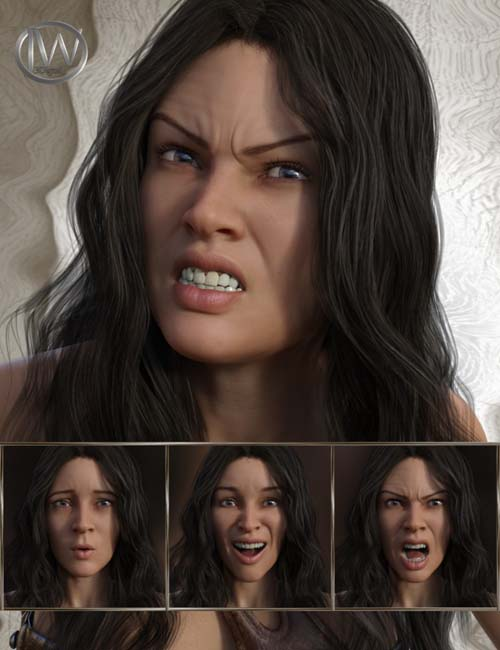 Beautiful Warrior - Expressions for Genesis 8 Female and Gia 8
