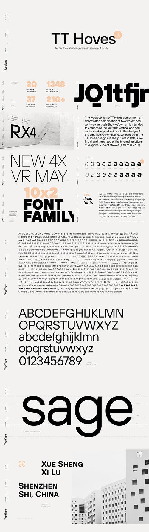 TT Hoves font family