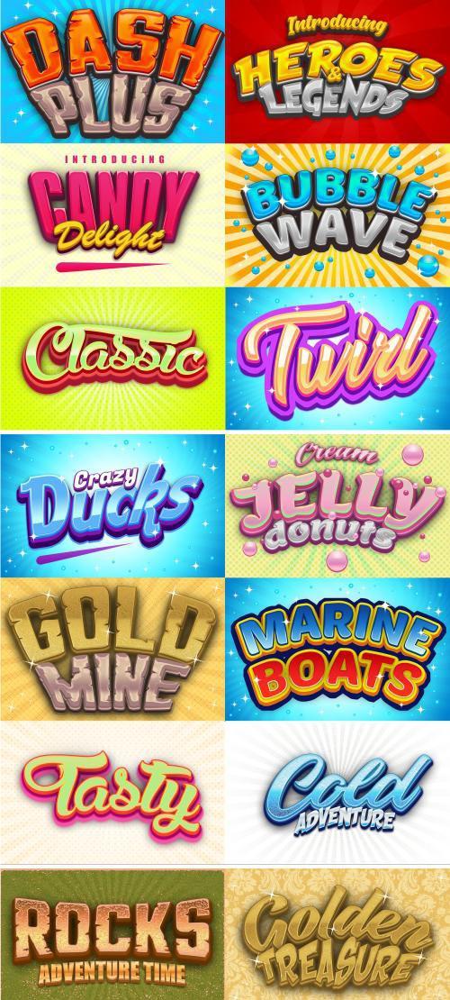 Game Logo Text Effect Styles Bundle - 3741328