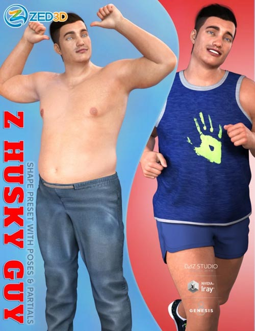 Z Husky Guy Shape Preset and Poses for Genesis 8 Male