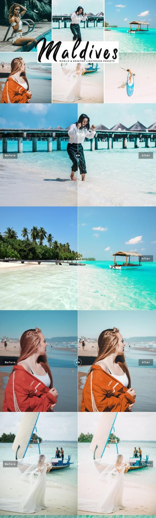 Maldives Lightroom Presets Pack - 3865618
