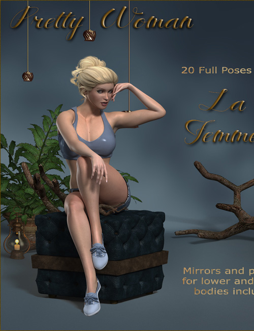 Pretty Woman Poses for La Femme