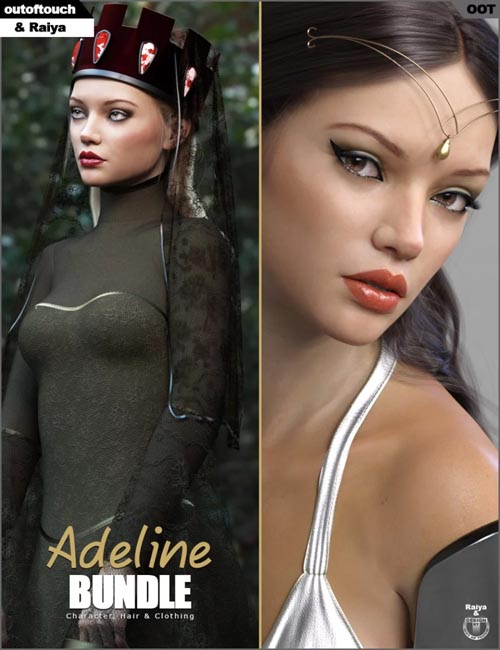 High Fantasy Adeline Clothing, Character and Hair Bundle