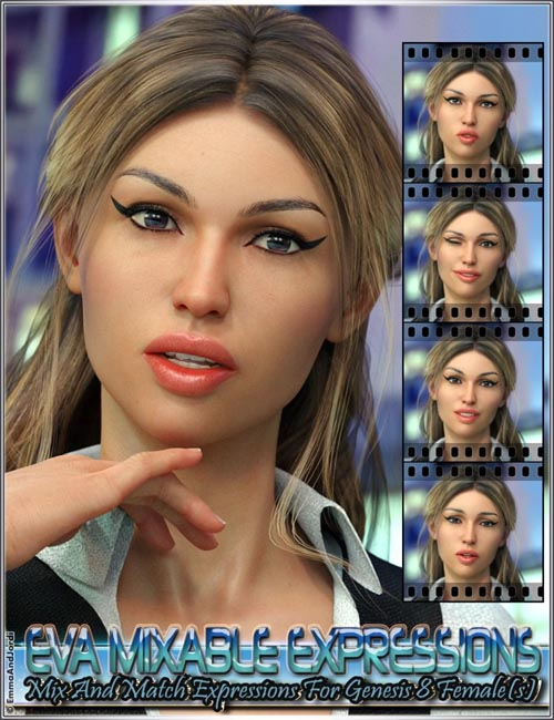 Eva Mixable Expressions for Genesis 8 Female(s)