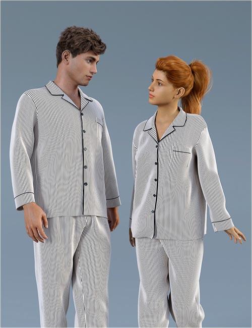 dForce H&C Pajamas Set for Genesis 8