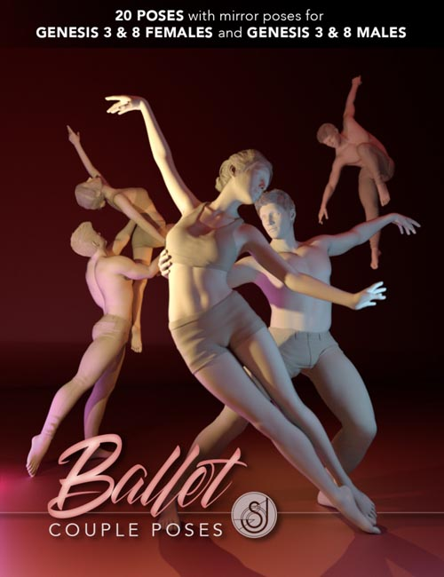 Ballet Couple Poses for Genesis 3 and 8