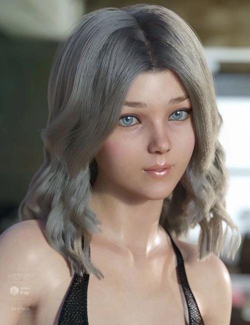 dForce Kay Hair for Genesis 3 and 8 Female(s)