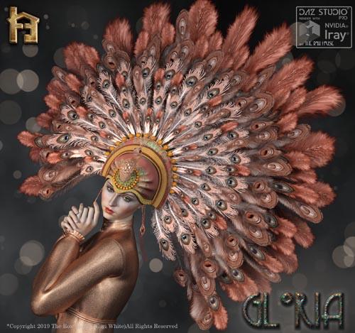 Gloria 1920's Flapper Showgirl Headdress