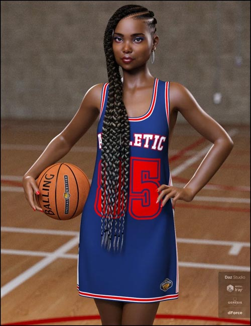 dForce Basketball Dress for Genesis 8 Female