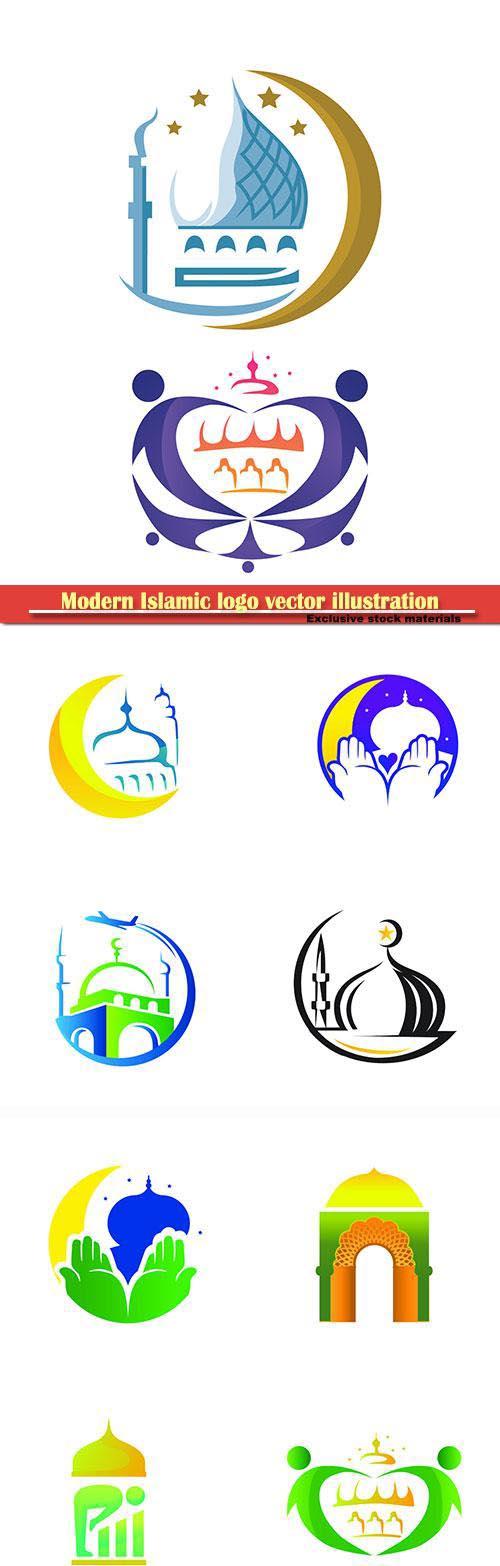 Modern Islamic logo vector illustration