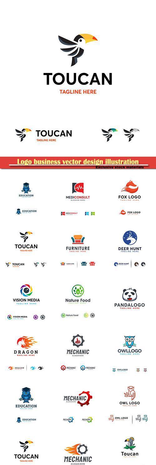 Logo business vector design illustration # 118