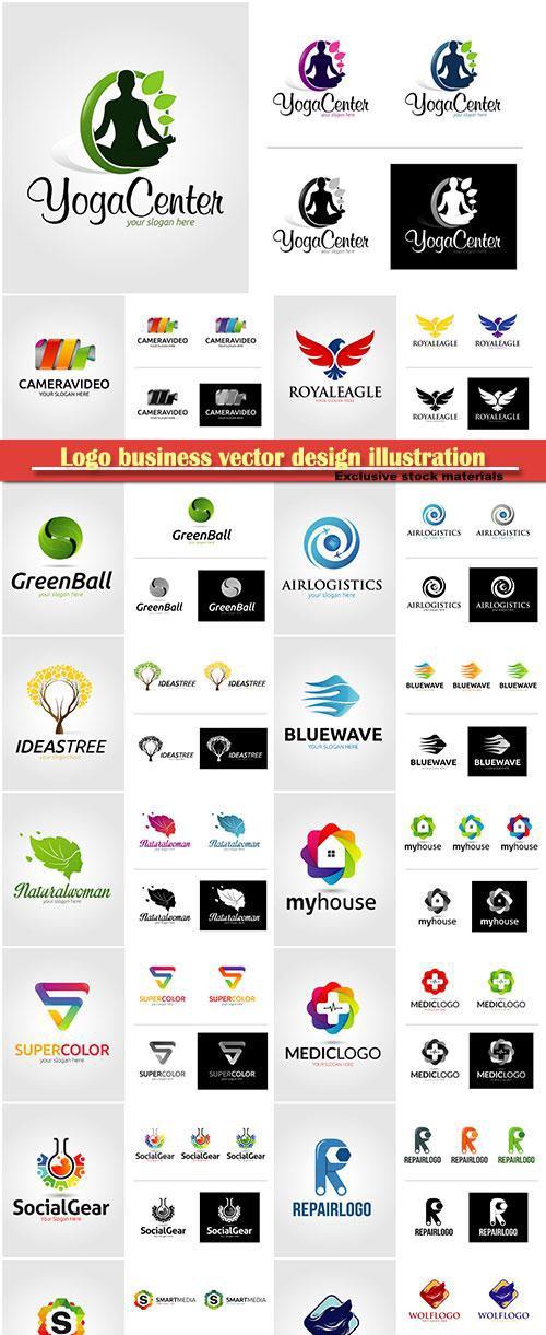 Logo business vector design illustration # 117