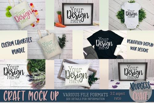Custom Favorites Craft mock up Bundle - 223526