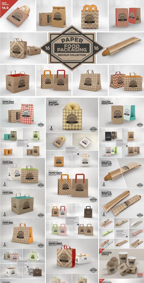 CM - VOL. 16 Food Box Packaging Mockup - 3916852