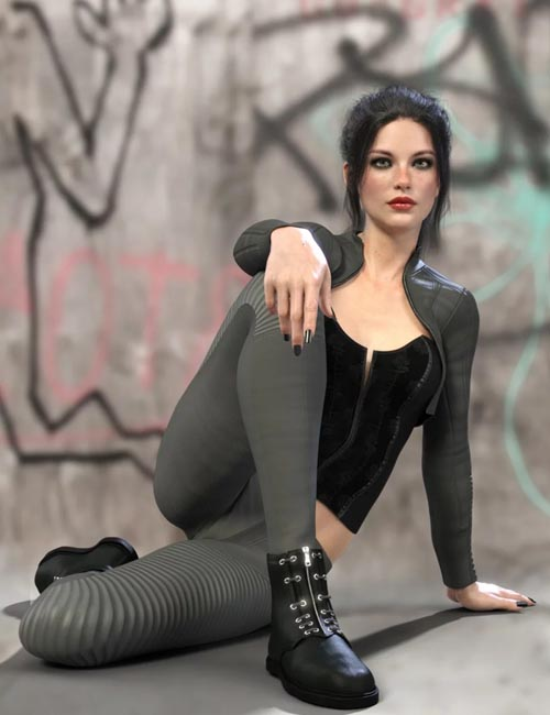 X-Fashion Punk Outfit for Genesis 8 Female(s)