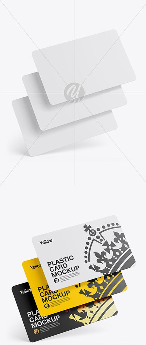Three Plastic Cards Mockup 42865 TIF