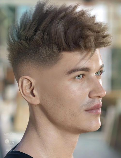 dForce Bristol Hair for Genesis 8