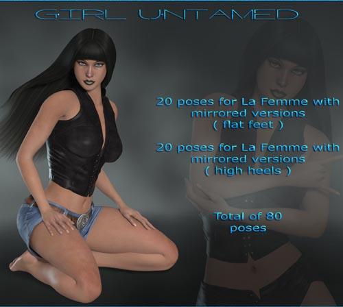Girl Untamed for La Femme