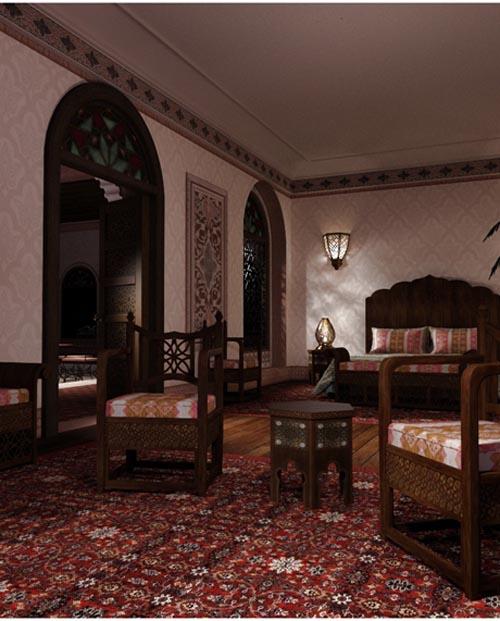 Moroccan Riad Bedroom