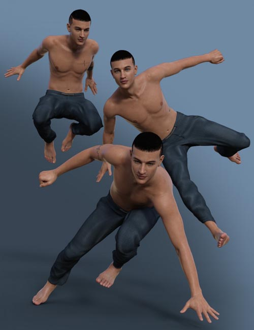 Parkour Poses for Genesis 8 Male(s)