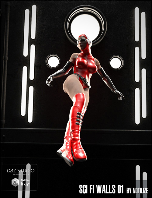 Sci Fi Walls 01 for Daz Studio Iray