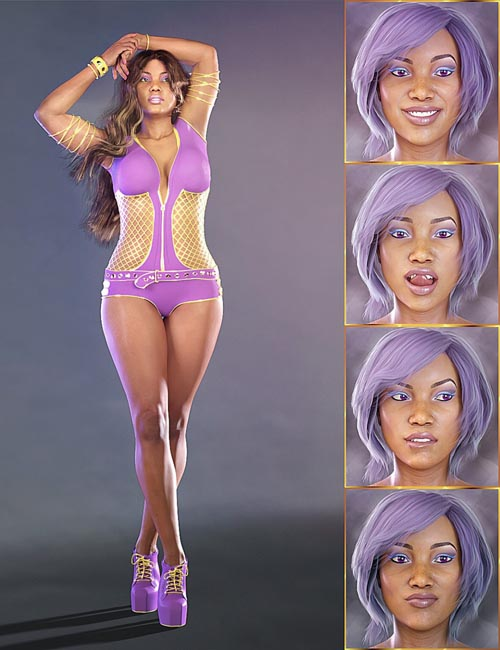 PTF Insolent Poses and Expressions for Latonya 8 and Genesis 8 Female