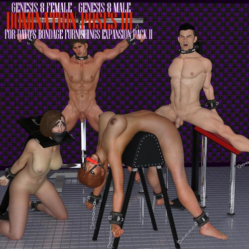 Domination Poses III For Davo's Bondage Furniture Expansion Pack 2 Daz Studio