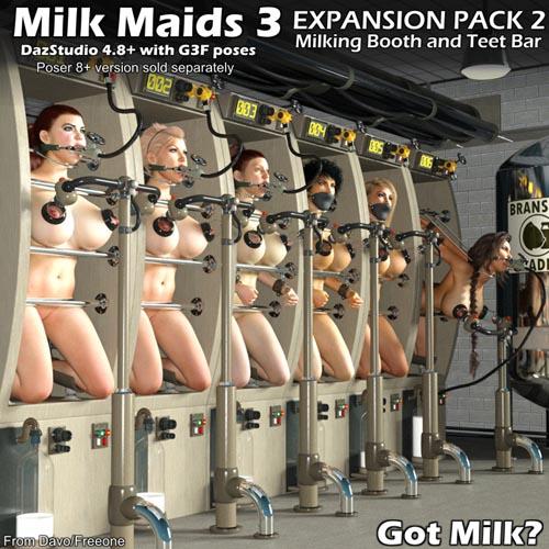 Milk Maids 3 Expansion Pack 2 for DazStudio 4.8+