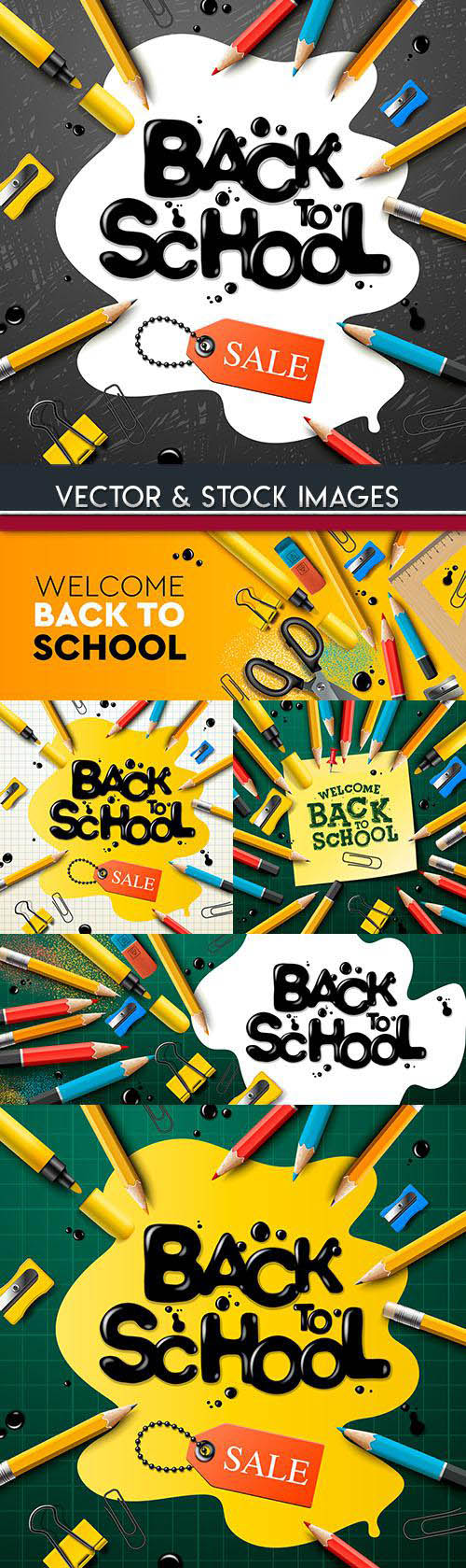 Back to school and accessories element illustration 23