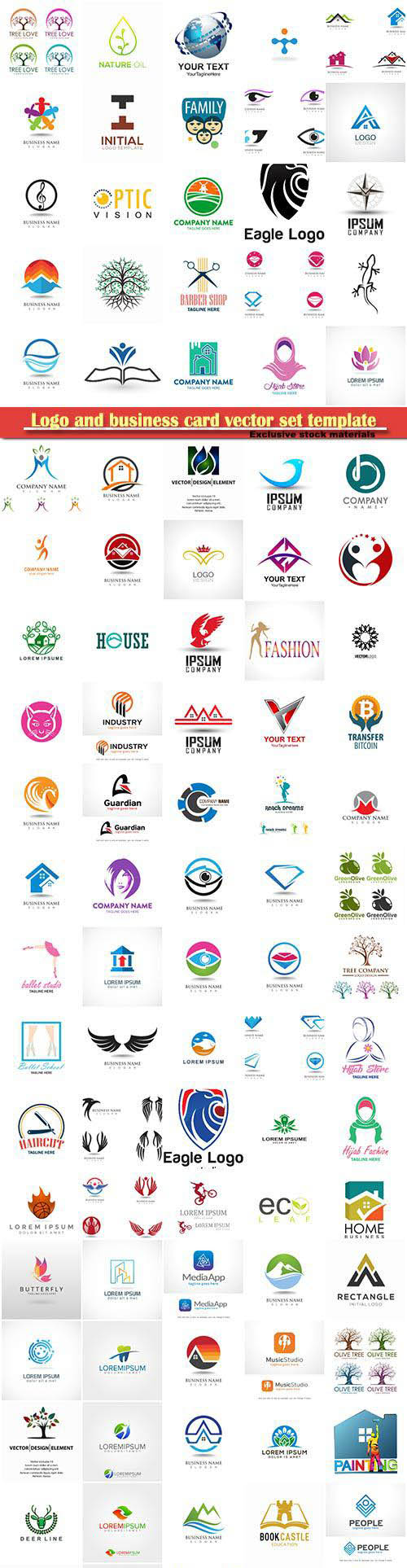 Logo and business card vector set template # 31