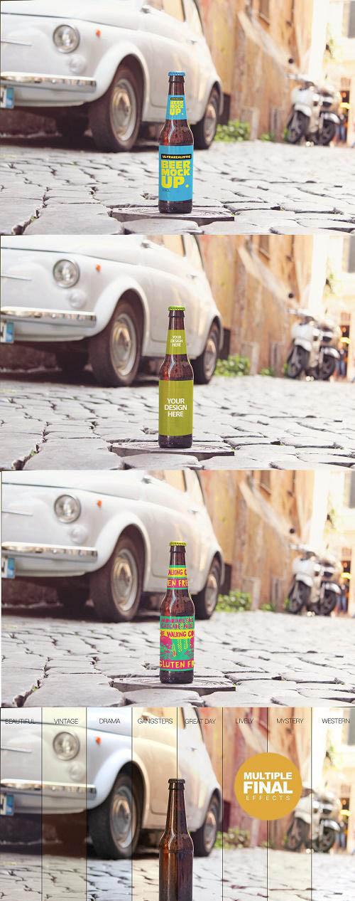 Italian Street Beer Mockup - 3953651