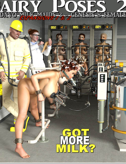 Dairy Poses 2 For Davo Milk Maids 3 Expansion 1 And Expansion 2 Pack Daz Studio