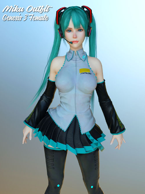 Miku Outfit for G3F