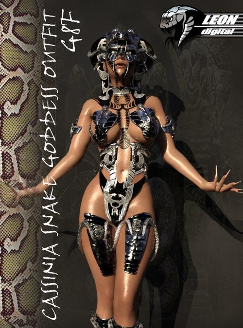 Cassinia Snake Goddess Outfit G8F