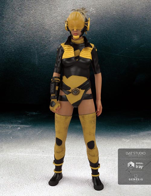 Cyberpunk 2048 Outfit for Genesis 8 Female(s)