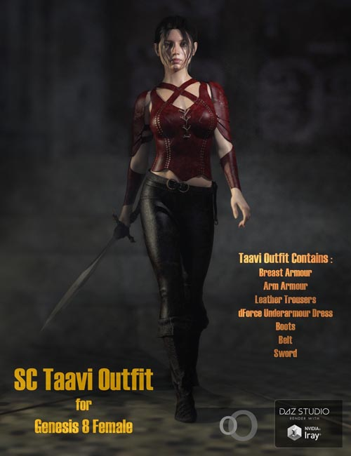 SC Taavi Armour for Genesis 8 Female