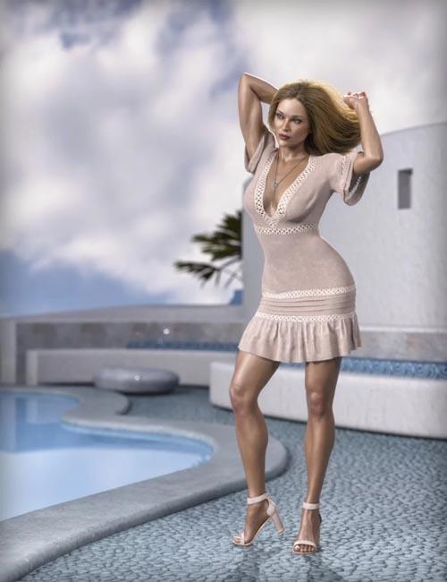 dForce MDSD Rhodes Summer Set Outfit for Genesis 8 Female(s)