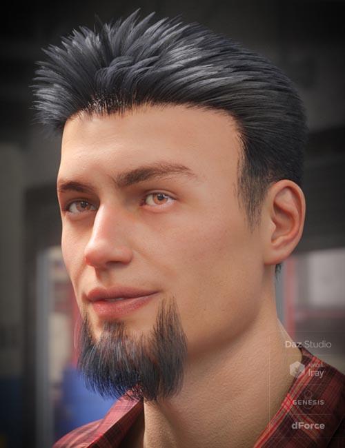 dForce Eddie Hair and Goatee for Genesis 8 Male(s)