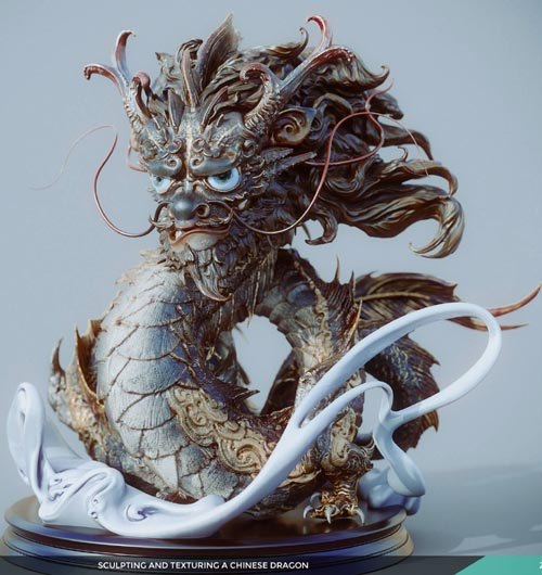 Sculpting & Texturing a Chinese Dragon