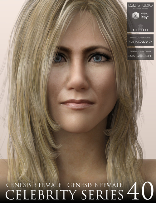 Celebrity Series 40 for Genesis 3 and Genesis 8 Female (25 MB x3)
