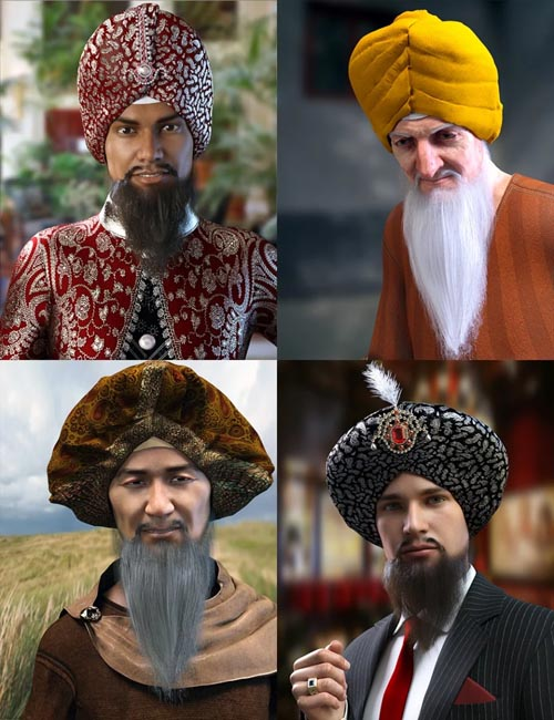 Morphing Turban and Beard for Genesis 8 Male(s)