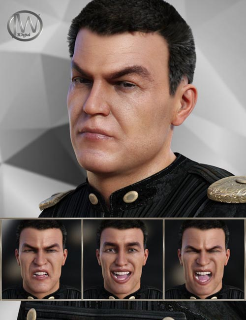 Warrior Expressions for Genesis 8 Male and Vladimir 8