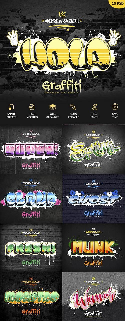 Graffiti Text Effects - 10 PSD - vol 3 24020992