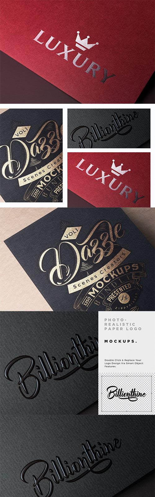 Photorealistic Paper Logo Mockups PSD » Daz3D and Poses